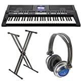 Yamaha PSRS650 Package including Headphones and Stand
