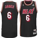 Miami Heat Lebron James Hardwood Classics HWC Adidas Swingman Jersey
