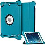 CASEFORMERS Armor Shield Cover Flip Case with Stand for iPad Mini 3, iPad Mini Retina Display and iPad Mini BLUE