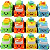 One Dozen High Quality Friction Powered Plastic Toy Fire Vehicles With Moving Parts!