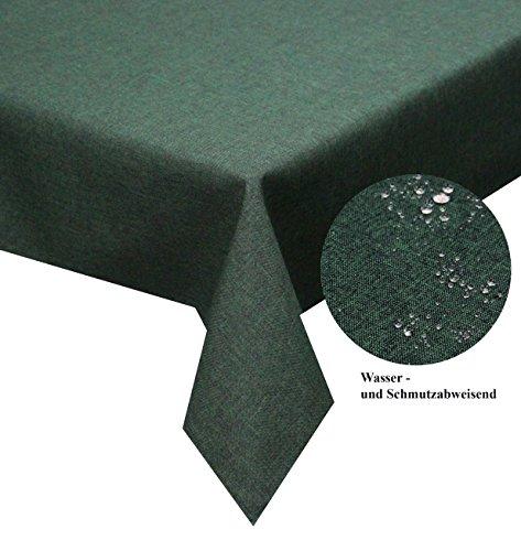 Tischdecke-dunkelgrn-130cm-x-160cm-eckig-abwaschbar-Schmutz-und-Wasserabweisend-eckig-Gre-Farbe-Form-whlbar-Rund-Eckig-Oval