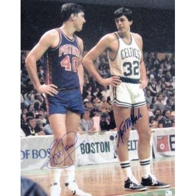 Autographed Kevin McHale Photo - Bill Laimbeer 16x20 GLOBAL