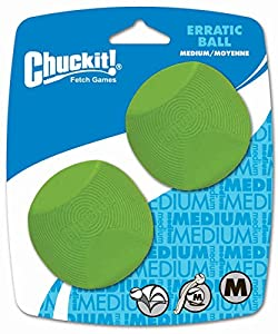 Chuckit Erratic Ball 2 Pack Medium 6.5cm