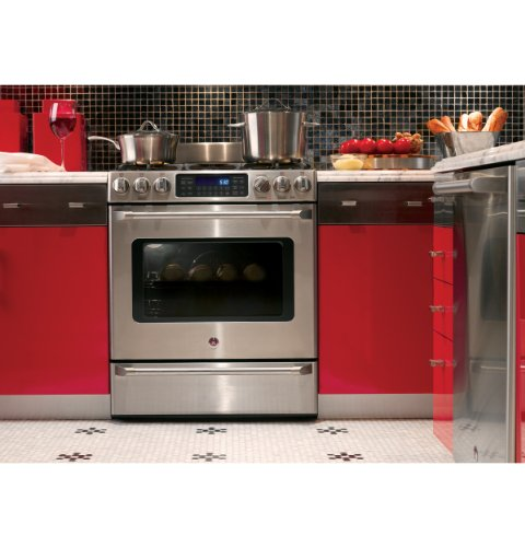 GE-C2S985SETSS-Cafe-30-Stainless-Steel-Dual-Fuel-Sealed-Burner-Range-Convection