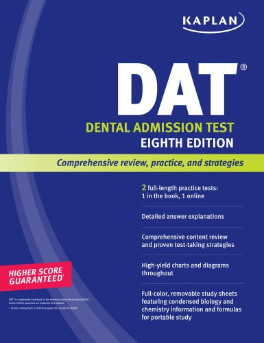 Kaplan DAT 2008-2009 Edition (with CD-ROM) (Kaplan Dat (Dental Admission Test))