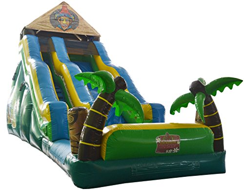 19' Tiki Island Water Slide - Wet or Dry Slide, Includes 1.5 HP Blower and Free Shipping (Tropical Island Water Table compare prices)