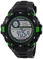 Armitron Men's 40/8297GRN Sport Metallic Green Accented Black Resin Strap Chronograph Digital Sport Watch by Armitron