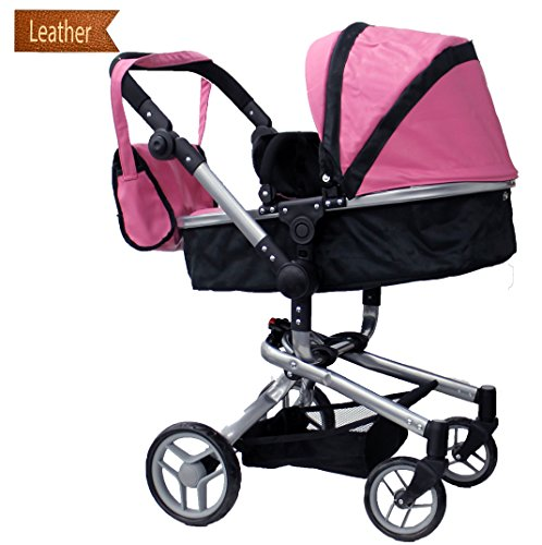 mommy-me-2-in-1-deluxe-leather-doll-stroller-extra-tall-32-high-view-all-photos-9695
