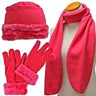Betty Boop Junior Womens 3-Piece Winter Set-Magic Glove,Beanie Hat NEW Scarf