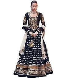 BMR Bewildering Black Georgette Anarkali Suit Dress Material