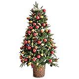 クリスマスツリー 180cm 8パターンのLEDイルミネーション オーナメント 11点セット 飾り付き 1691001300