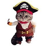 (シェリ) Cherie コスプレ 服 犬 猫 ペットウェア / ピエロ かぼちゃ パンプキン / XS S M L XL / ドッグ キャット ハロウィン クリスマス 仮装 コス にも (12.海賊・S)