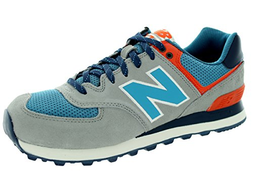 New Balance Men'S Ml574 Out East Collection Classic Running Shoe, Tan/Blue, 8.5 D Us