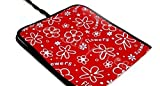 BABY TRAVEL CHANGING MAT MADE OF WATERPROOFSOFT MATERIAL 78x34 Red Flowers