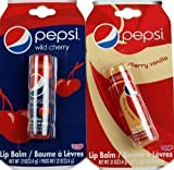 Set of 2 Novelty Pepsi Cola Lip Balms - Vanilla And Cherry Coke Flavour