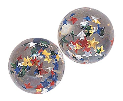 12 bolas de goma transparente con un interior colorido Stelline