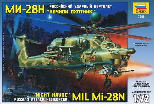 Zvezda - Z7255 - Maquette - Mil MI-28N - Echelle 1:72