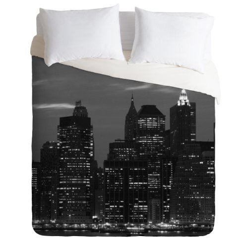 Details for DENY Designs Leonidas Oxby York Financial District Duvet Cover, Queen by DENY Designs