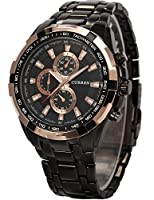 Curren Expedition Trendy Analoge Black Dial Men's Watch-CUR012