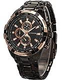 Acquista AMPM24 CUR012-Orologio da polso uomo,acciaio inox,analogico,sportivo quarzo,colore:nero