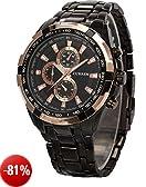 AMPM24 CUR012-Orologio da polso uomo,acciaio inox,analogico,sportivo quarzo,colore:nero