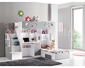 lit mezzanine sacha cuisine maison. Black Bedroom Furniture Sets. Home Design Ideas