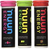 Nuun Energy Hydration Tablets - 3 Pack - Cherry Limeaide, Lemon Lime, & Wild Berry (10 Tabs Each)