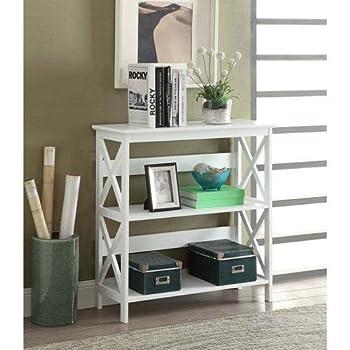 Convenience Concepts Oxford 3-Tier Bookcase, White