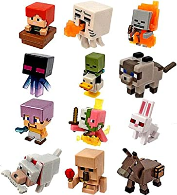 Minecraft Mini Figures Ice Series 5 Complete Set of 12 by Mattel