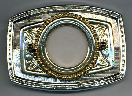 Two Tone Coin Belt Buckle (Silver Dollar Size)