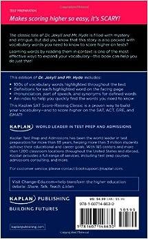 Dr. Jekyll and Mr. Hyde: A Kaplan SAT Score-Raising Classic (Kaplan Test Prep)Mass Market Paperback– May 3, 2011