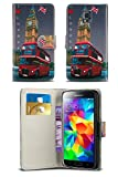 HTC One M8 / HTC One 2 2014 Model Vintage London Heritage Inspired PU Leather Book Wallet Flip Case Cover in DOUBLE DECKER RED BUS with Screen Protector and Polishing Cloth