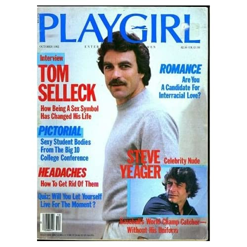 Playgirl Magazine Issue Dated October Tom Selleck Pictorial
