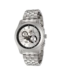 Invicta Men's 0258 II Collection Moon Phase Stainless Steel Watch