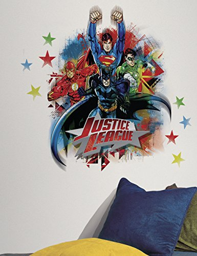 Roommates Rmk2165Gm Justice League Peel And Stick Giant Wall Decals front-1010663