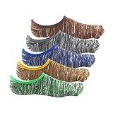 FASSYON 男性用靴下 ヘルスニットソックス レトロ風 カバーソックス 5足組 ナチュラル メンズファッション (W6)