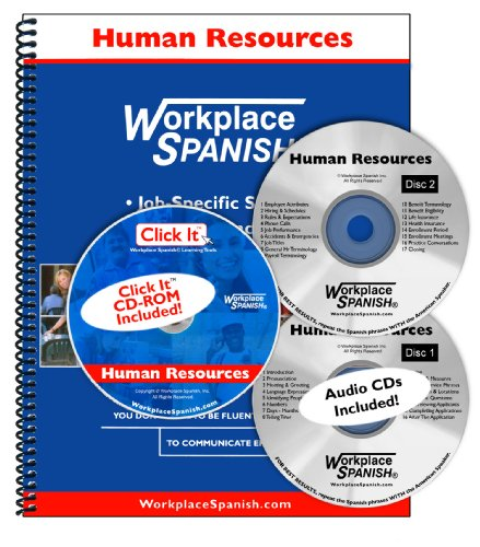 Spanish for Human Resources Learning Kit w 2 audio CDs and Click It CD ROM by Workplace Spanish R