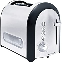 Morphy Richards Meno 2-Slice Pop-up Toaster (Silver and Black)