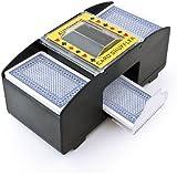 Mescolatore mescola mischia carte da gioco mescolacarte a batterie poker per 2 mazzi di carte
