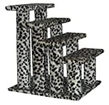 Leopard Skin 4 Steps Pet Dog Cat Step Stairs
