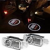 Inlink Audi Autot�r Logo Licht Einfache Installation ohne Bohren und ohne Drahtleitung F�r Audi A8 (04-14), A6L (04-09), A7 (12-14), A6 (00-04), A5 (08-14), A4 (03-07), A4L (09-14), A3 (10-13), R8 (07-14), Q7 (06-14), Q5 (10-14), Q3 (12-14), TT (08-14), A