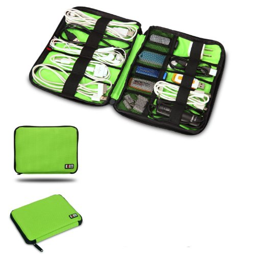 Damai Universal Cable Organizer Electronics Accessories Case USB Drive Shuttle/ Healthcare & Grooming Kit (Green)