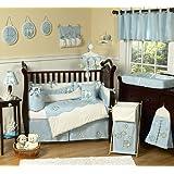 Go Fish Blue Ocean Under the Sea Baby Boy Bedding 9pc Crib Set