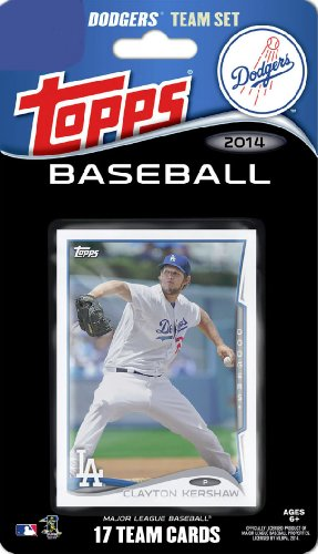 2014 Topps Los Angeles Dodgers Factory Sealed Special Edition 17 Card Team Set With Clayton Kershaw Yasiel Puig Plus