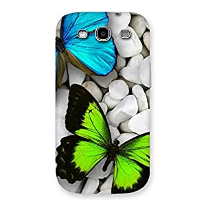 Ajay Enterprises Elite Butterflies Green Blue Back Case Cover for Galaxy S3 Neo