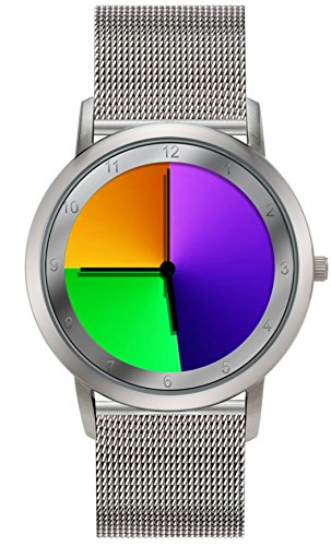 Nobel NR3012 Women's Watch, Mesh Band, Rainbow Collection, Hourly Color Changing Watch