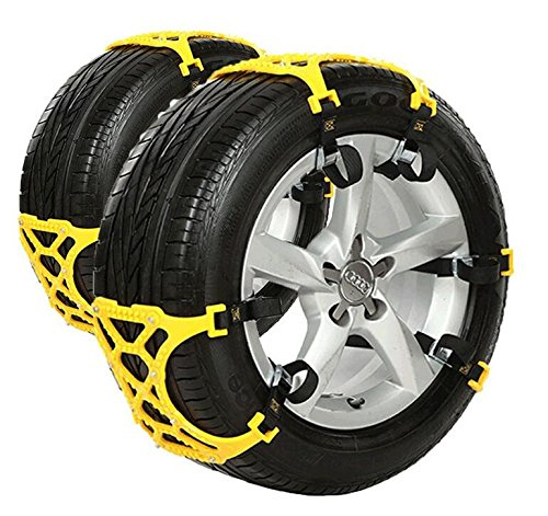 Anti Snow Chains of Car ,SUV Chain Tire Emergency Thickening Anti--Skid Chain Car Snow -Set of 6-Hop&Fly (Snow Blower Tire Chains Ariens compare prices)