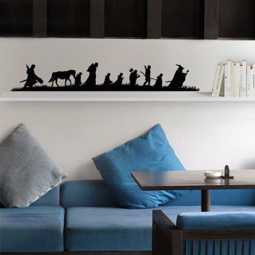 Compagnia fantastica - Sticker murale - 165 x 25 cm - Nero