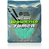 King Soba 3-PACK Gluten Free & Organic Brown Rice Ramen Noodles - 4 Noodle Cakes Per Pack