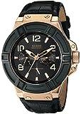 GUESS Men's U0040G5 Rigor Multi-Function Standout Sport Black & Rose Gold-Tone Watch